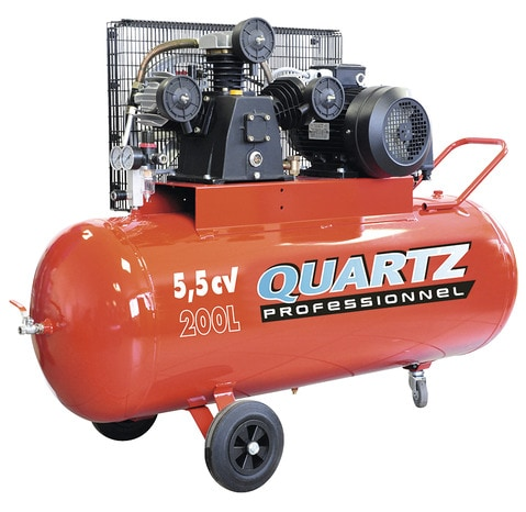 Compresseur De Chantier 200 L 5 5 Cv Quartz