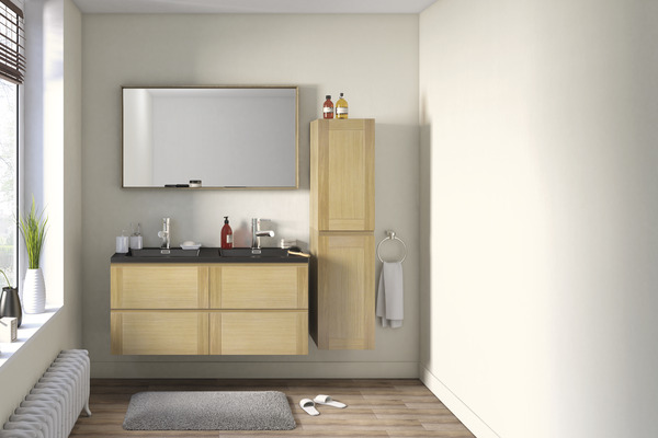 meuble suspendre origin ch ne finition bross e vernis. Black Bedroom Furniture Sets. Home Design Ideas