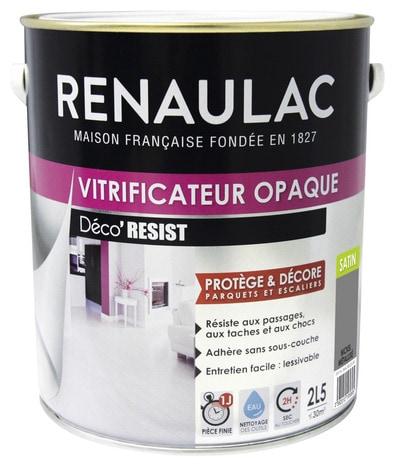 Vitrificateur Opaque Nickel Metal Satine Special Parquets Et Escaliers En Bois Et Derives 2 5 L Brico Depot