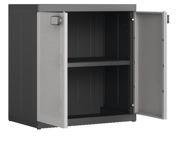 armoire basse en résine à 1 tablette (charge max 50 kg) - brico dépôt