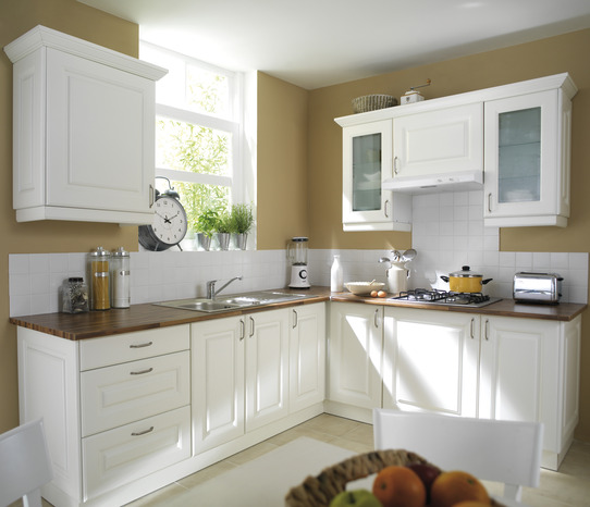 cuisine cosy blanche brico d p t. Black Bedroom Furniture Sets. Home Design Ideas