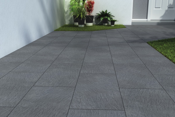 Gr s c rame maill lavagna anthracite brico d p t for Carrelage exterieur terrasse brico depot