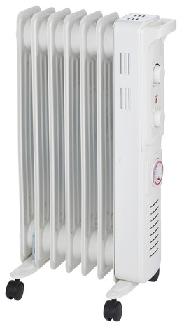Radiateur bain d 39 huile thermostat manuel 1500 w brico - Radiateur bain d huile brico depot ...