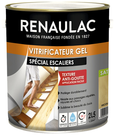 Vitrificateur Gel Incolore Satine Special Escaliers Rampes Et Balustrades Tous Supports 2 5 L Brico Depot