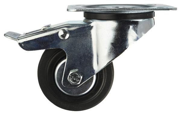 roulette 80 mm avec verrouillage brico d p t. Black Bedroom Furniture Sets. Home Design Ideas