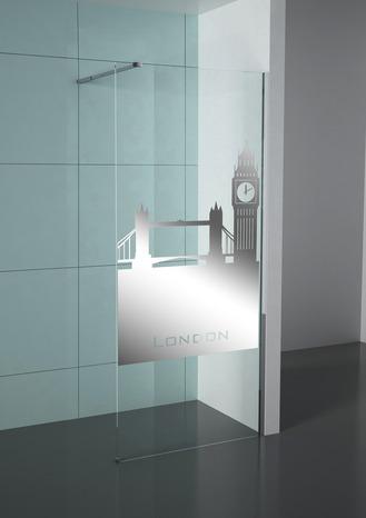 paroi de douche walk in profil s en aluminium chrom cm cm brico d p t. Black Bedroom Furniture Sets. Home Design Ideas