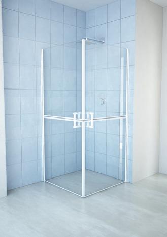double paroi de douche avec des profil s en aluminium. Black Bedroom Furniture Sets. Home Design Ideas