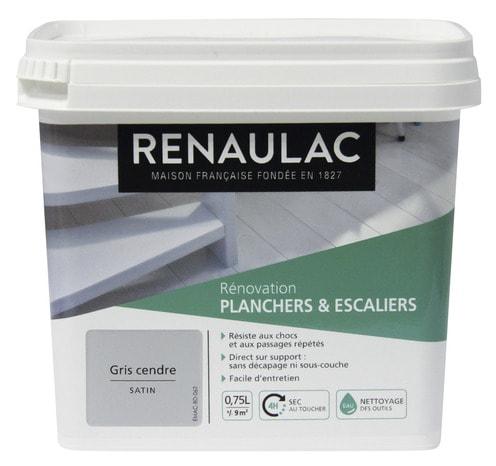 Peinture Microporeuse Impermeable Renaulac Noir Satine 0 5 L Brico Depot