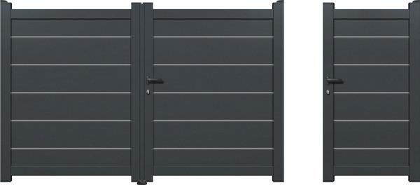 Portail aluminium battant plein amarante haut 1 80 m for Portillon largeur 80 cm