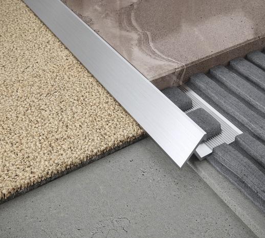 Profilé De Transition Sol Aluminium Brut 10 Mm Le Profilé Haut 10 Mm
