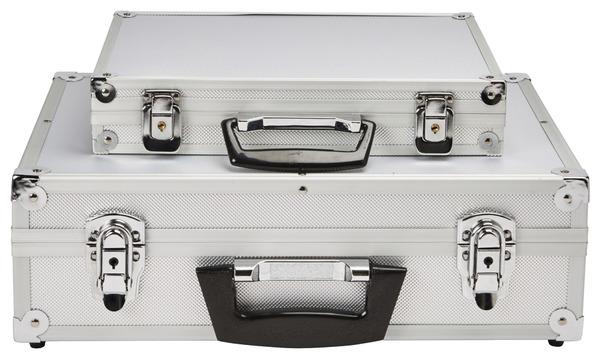 lot de 2 malettes en aluminium 32 et 43 cm brico d p t. Black Bedroom Furniture Sets. Home Design Ideas