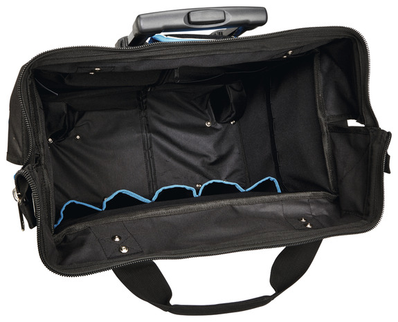 sac outils fond rigide et roues 46 cm brico d p t. Black Bedroom Furniture Sets. Home Design Ideas
