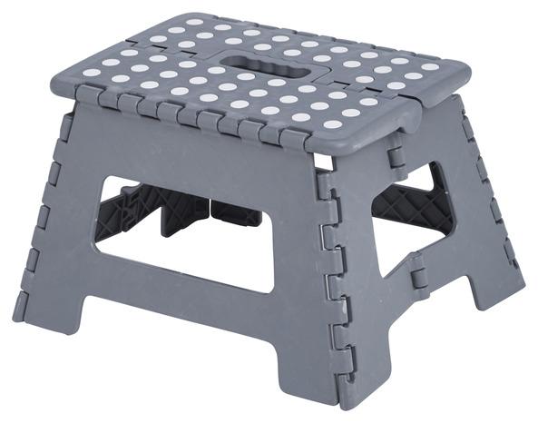 marchepied 1 marche pliant en plastique gris brico d p t. Black Bedroom Furniture Sets. Home Design Ideas