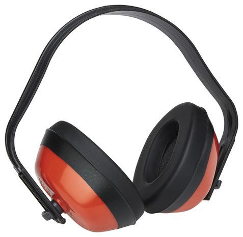 casque anti bruit noir et rouge 27 db ce brico d p t. Black Bedroom Furniture Sets. Home Design Ideas