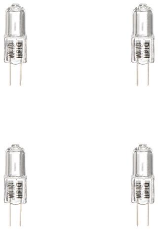 4 capsules halog ne g4 10w 10w le lot de 4 ampoules brico d p t. Black Bedroom Furniture Sets. Home Design Ideas
