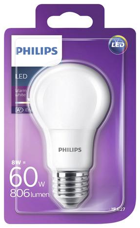 ampoule led standard e27 60w 2 700k brico d p t. Black Bedroom Furniture Sets. Home Design Ideas