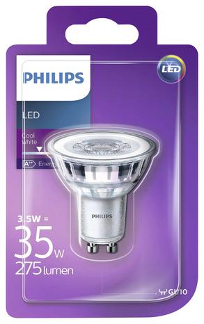 ampoule led spot 36d gu10 35 w 4000 k blanc froid brico d p t. Black Bedroom Furniture Sets. Home Design Ideas