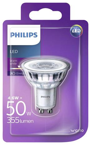 ampoule led spot 36d gu10 50 w 2700 k blanc chaud brico d p t. Black Bedroom Furniture Sets. Home Design Ideas
