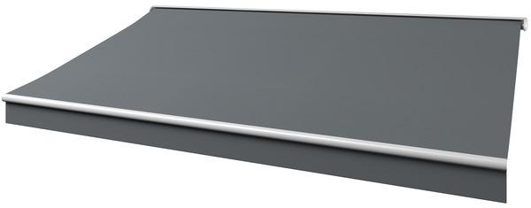 store banne motoris semi coffre toile acrylique grise 300 g m l 4 x l 3 5 m brico d p t. Black Bedroom Furniture Sets. Home Design Ideas
