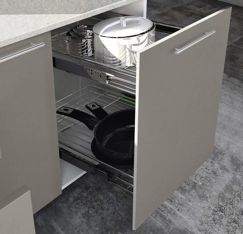 Rangement coulissant amorti pour meuble l 40 cm brico d p t - Porte rideau coulissant pour meuble ...