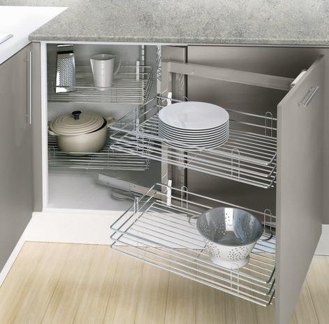 rangement d 39 angle avec 4 paniers fil chrom brico d p t. Black Bedroom Furniture Sets. Home Design Ideas