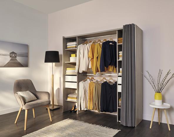 dressing d cor imitation ch ne rideau brico d p t. Black Bedroom Furniture Sets. Home Design Ideas