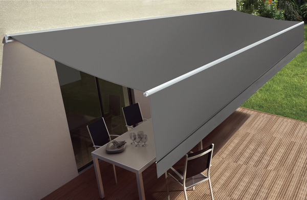 store banne motoris avec semi coffre toile polyester 300 g m l 5 x l 3 5 m brico d p t. Black Bedroom Furniture Sets. Home Design Ideas