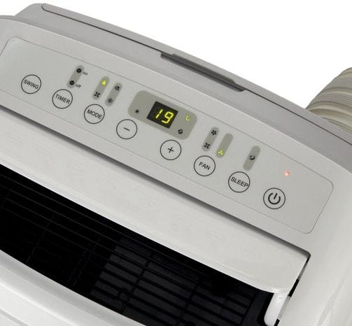 climatiseur mobile r versible l 46 6 x h 76 5 x p 39 7. Black Bedroom Furniture Sets. Home Design Ideas
