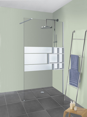 paroi de douche walkin d co plus rabattable profil s blanc mat 120x200 cm brico d p t. Black Bedroom Furniture Sets. Home Design Ideas