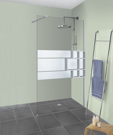 paroi de douche walkin d co plus rabattable profil s blanc mat 120x200 cm brico d p t