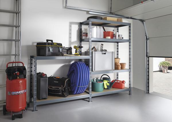 tag re bois m tal 6 plateaux brico d p t. Black Bedroom Furniture Sets. Home Design Ideas