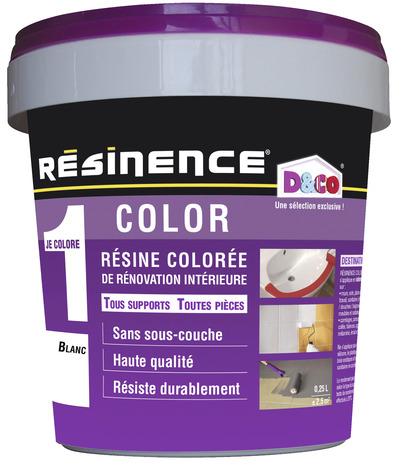 r sine color e blanc pour r nover et relooker les l ments muraux 250 ml brico d p t. Black Bedroom Furniture Sets. Home Design Ideas