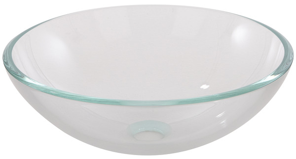 vasque transparente poser drina h 14 cm 38 cm. Black Bedroom Furniture Sets. Home Design Ideas