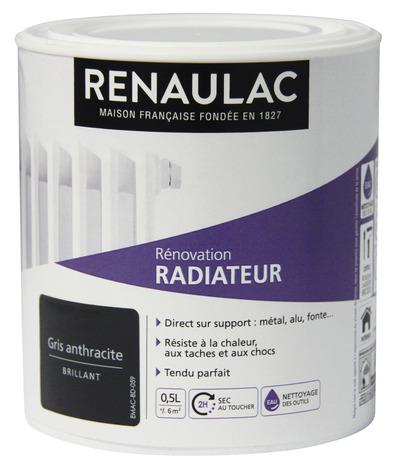 Peinture Rénovation Radiateurs 0,5 L Gris Anthracite 0,5 L - Gris