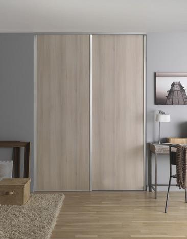 porte de placard coulissante ch ne nordique brico d p t. Black Bedroom Furniture Sets. Home Design Ideas
