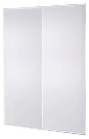 Pack de 2 portes coulissantes blanches blizz h 250 x l - Porte de placard brico depot ...