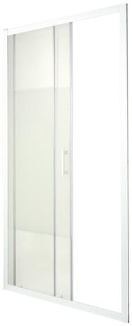 porte coulissante 2 volets onega h 190 x l 120 cm verre aspect d poli larg ext de 117 5. Black Bedroom Furniture Sets. Home Design Ideas