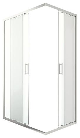 acc s d 39 angle rectangulaire beloya verre transparent h 195 x l 80 cm l 80 cm brico d p t. Black Bedroom Furniture Sets. Home Design Ideas