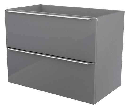 Meuble suspendre gris imandra l 80 x h 60 x p 45 for Meuble imandra