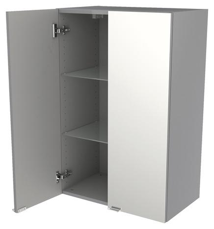 armoire murale miroir gris imandra l 60 x h 90 x p 36 cm brico d p t. Black Bedroom Furniture Sets. Home Design Ideas