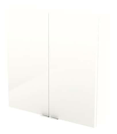 armoire murale blanc imandra l 60 x h 60 x p 15 cm brico d p t. Black Bedroom Furniture Sets. Home Design Ideas