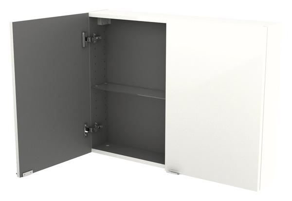 armoire murale blanc imandra l 80 x h 60 x p 15 cm brico d p t. Black Bedroom Furniture Sets. Home Design Ideas