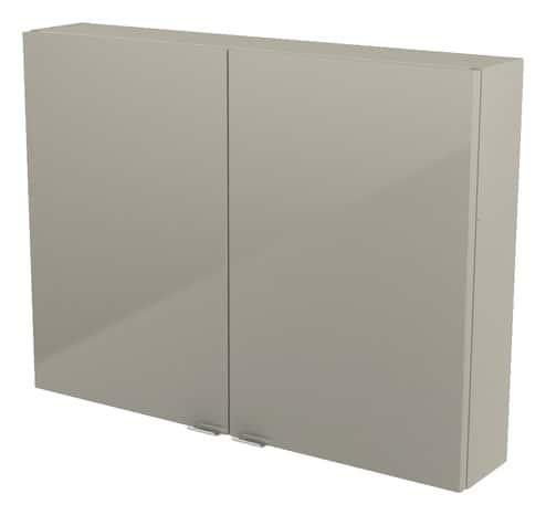armoire murale taupe imandra l 80 x h 60 x p 15 cm brico d p t. Black Bedroom Furniture Sets. Home Design Ideas