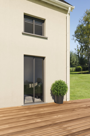 fen tre en aluminium gris anthracite droite l 100 x h 75 cm brico d p t. Black Bedroom Furniture Sets. Home Design Ideas