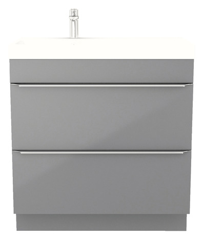 meuble sous vasque poser gris long 80 x haut 82 cm brico d p t. Black Bedroom Furniture Sets. Home Design Ideas