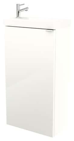 Lave Mains à Poser Blanc Imandra L 44 X H 79 X P 23 Cm L 44 X H 79 X P 23 Cm Blanc Goodhome
