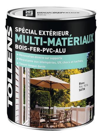 Peinture Pour Rénovations Extérieures Multi-Matériaux 3L - Blanc 3 L