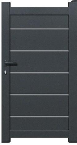 portail aluminium battant plein amarante haut 1 80 m brico d p t. Black Bedroom Furniture Sets. Home Design Ideas
