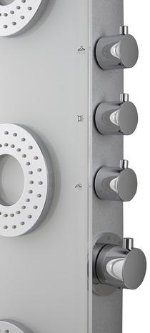colonne de douche hydromassante kella la pi ce brico d p t. Black Bedroom Furniture Sets. Home Design Ideas