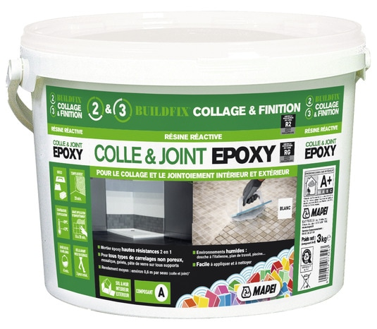 Colle et joint epoxy 3 kg mapei brico d p t for Colle a carrelage mapei